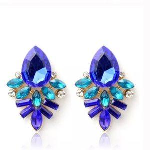 🆕Gorgeous Blue & Teal drop earrings
